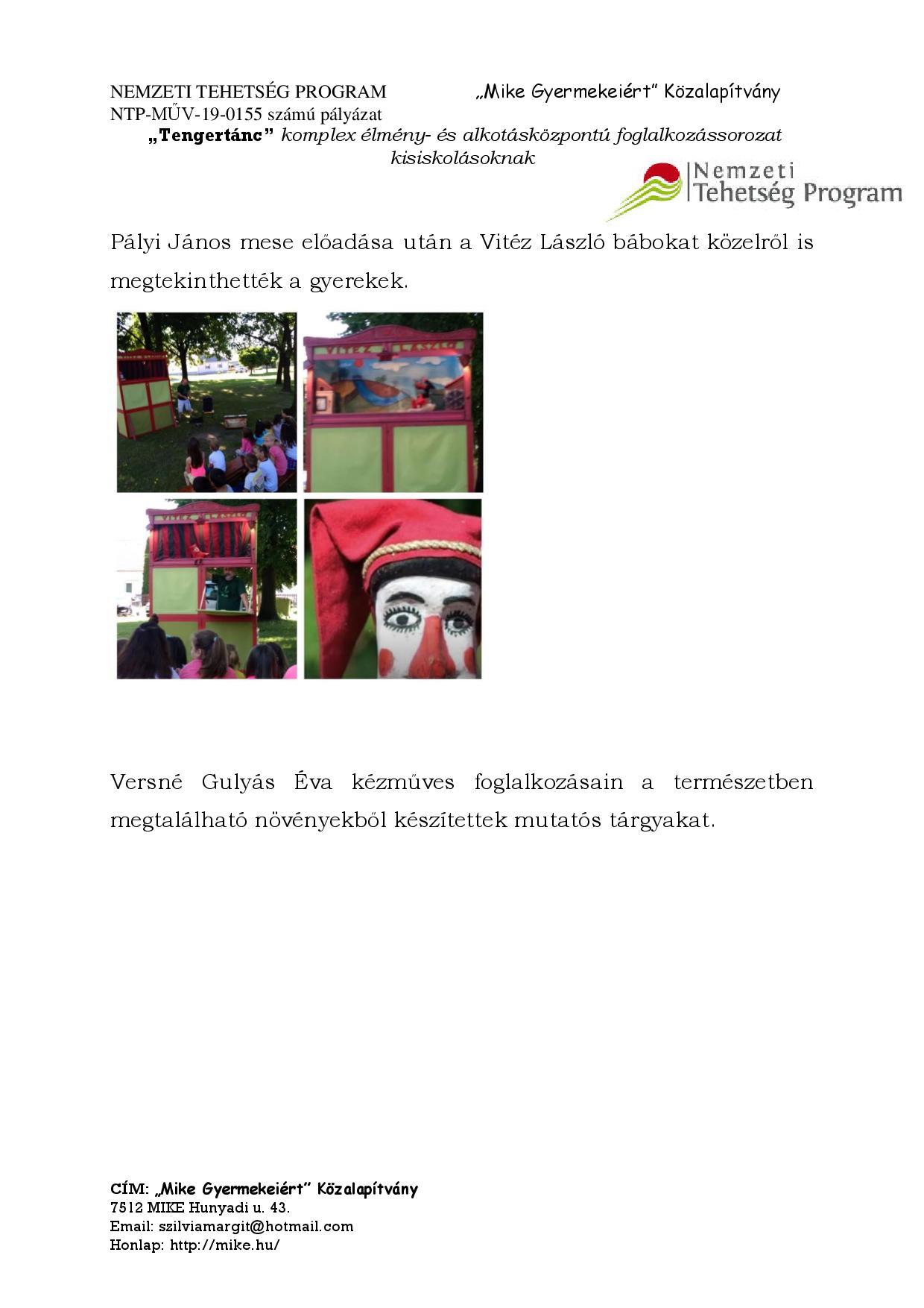NTP-MŰV-19-0155 program ismertető